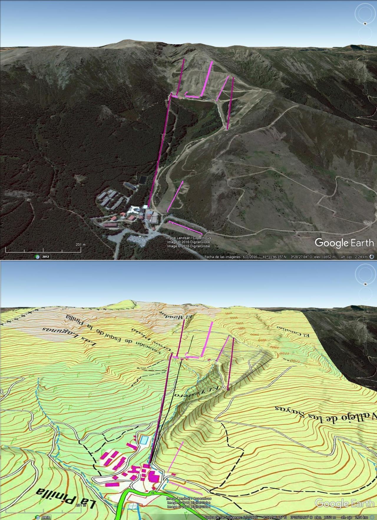 Vistas Google Earth La Pinilla 2016-17