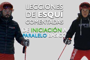 Lecciones de esquí comentadas. De iniciación a paralelo básico
