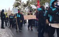 Los trabajadores de Font Romeu-Pyrenees 2000 salen a protestar