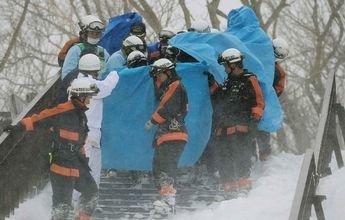 Un alud mata a 8 adolescentes en una estación de Japón