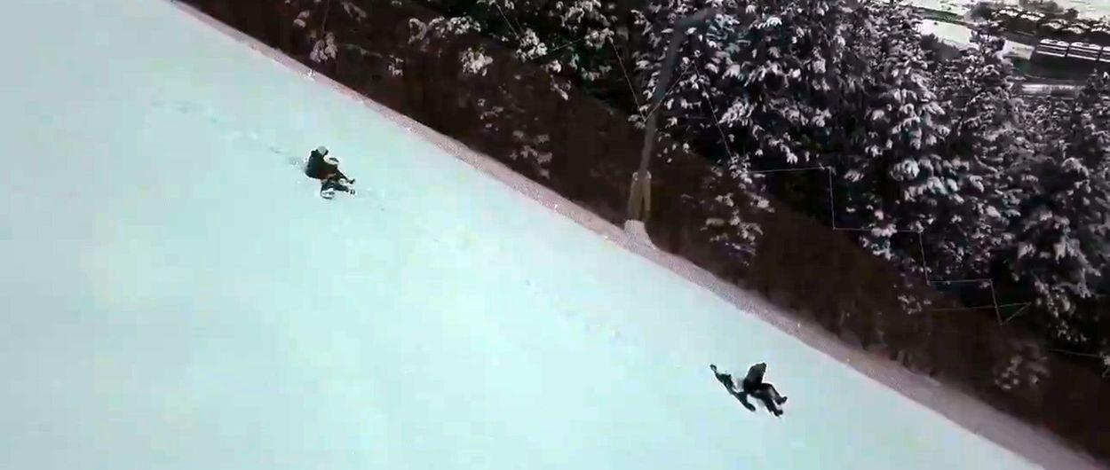 Cómo expulsar a esquiadores de las pistas con un dron y cuatro pasos