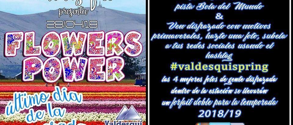 Valdesquí despide la temporada este sábado con la fiesta 'Flowers Power'