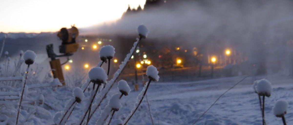 Cómo se fabrica nieve en cerro Catedral