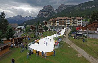 Así han esquiado en Alta Badia en pleno verano