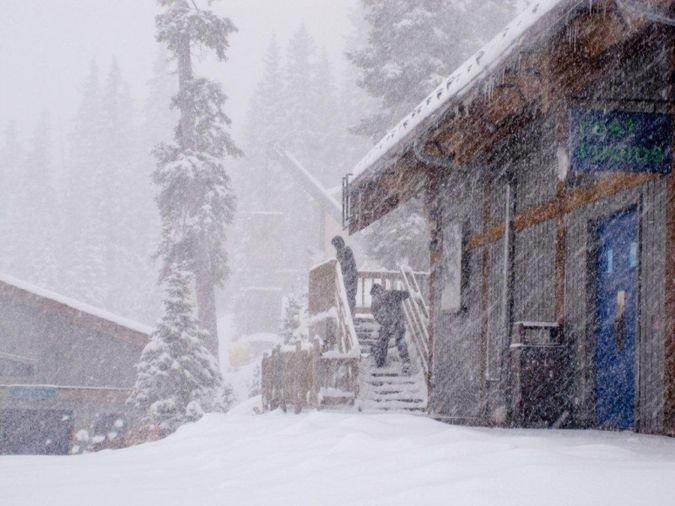 Imágenes de la nevada en USA