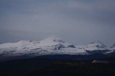 Fotos de la nevada caída hoy en el Alto Aragon.