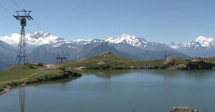 El glaciar mas largo de los Alpes, antes de la gran nevada
