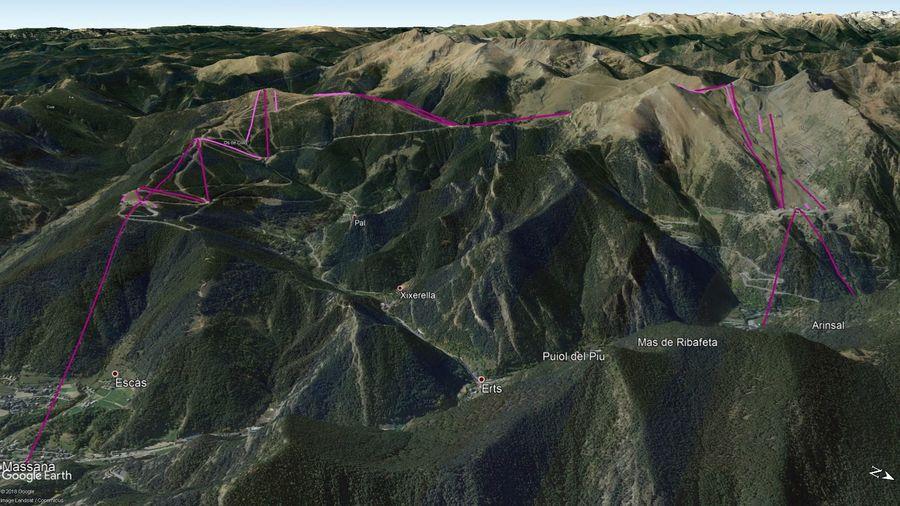 Vista Google Earth Pal Arinsal 2019/20