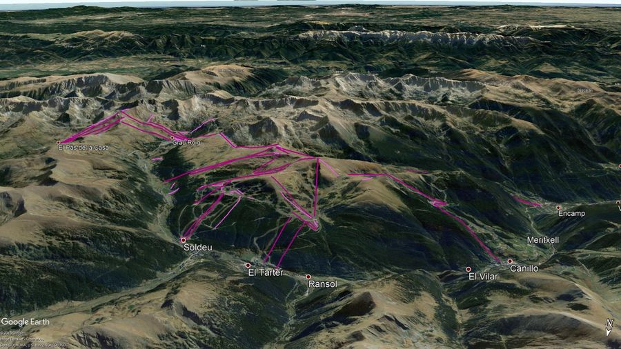 Vista Google Earth Grandvalira 2019/20