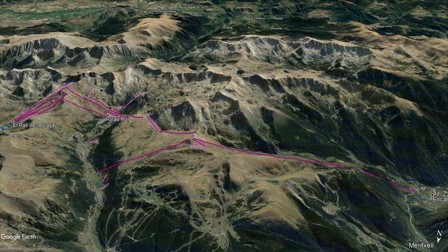 Vista Google Earth Pas Grau Encamp  2019/20