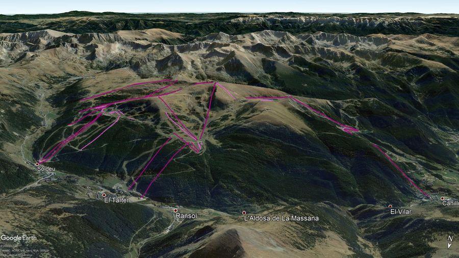 Vista Google Earth Soldeu El Tarter Canillo  2019/20
