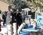 Valdelinares monta un innovador sistema de nieve artificial