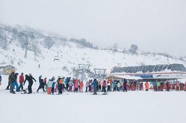 Nunca habia subido tanta gente a esquiar a las estaciones de Asturias