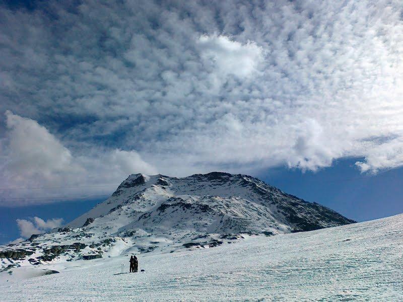 Fotografía de un paisaje invernal.