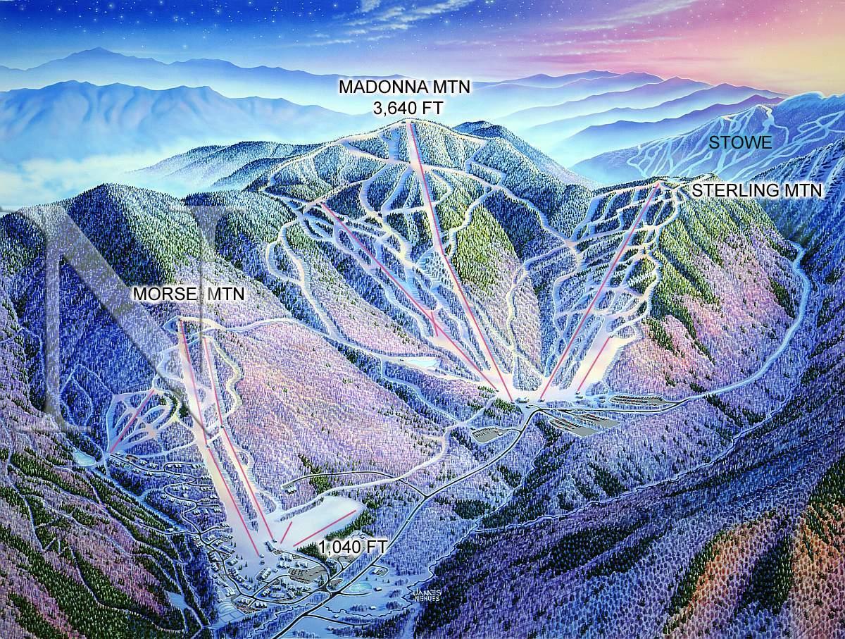Smuggler Notch ski map