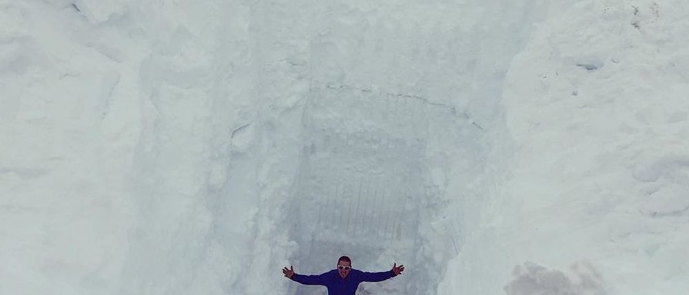 Las estación de esquí de Fonna está bajo... 11 metros de nieve!
