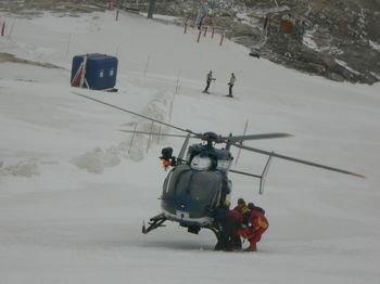Helicóptero en Tignes