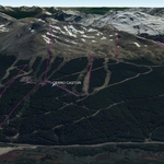 Vista Google Earth Cerro Castor  2018