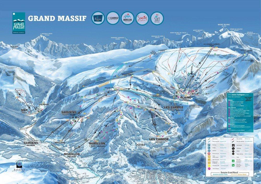 Plano de pistas de Grand Massif