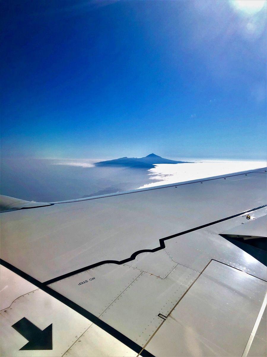 Teide desde el avión