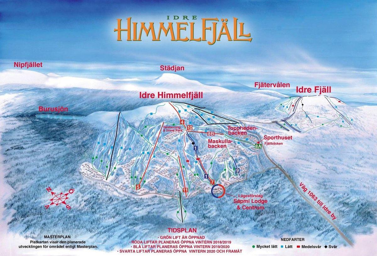 Plan de pistas de Idre Himmelfjäll