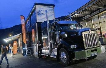 El Dynastar Truck: una exposición itinerante de esquís