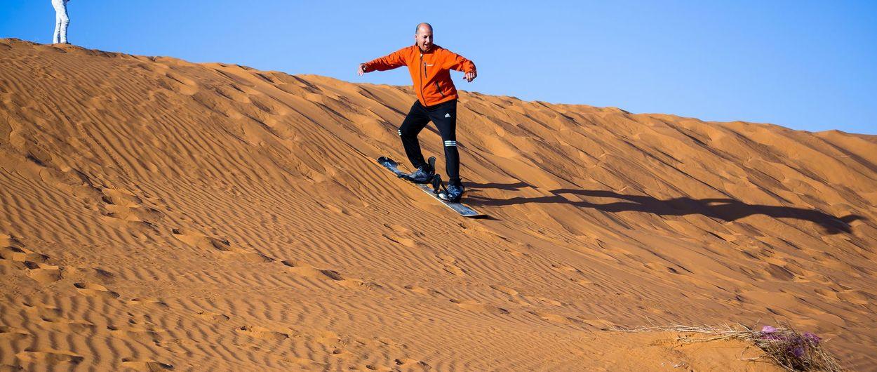 Sandboard in Morocco