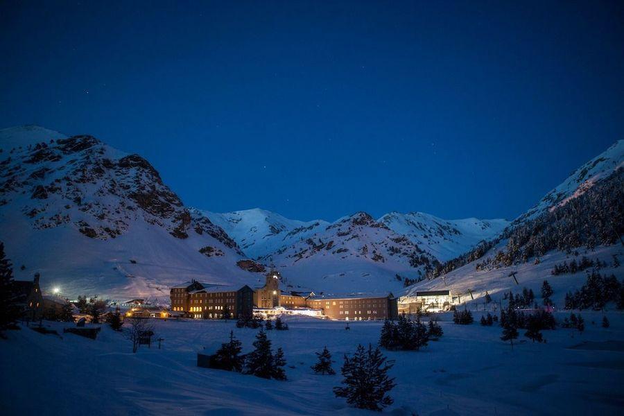 Imagen nocturna de Vall de Nuria