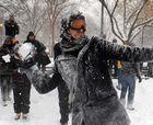 En Bélgica prohiben tirar bolas de nieve