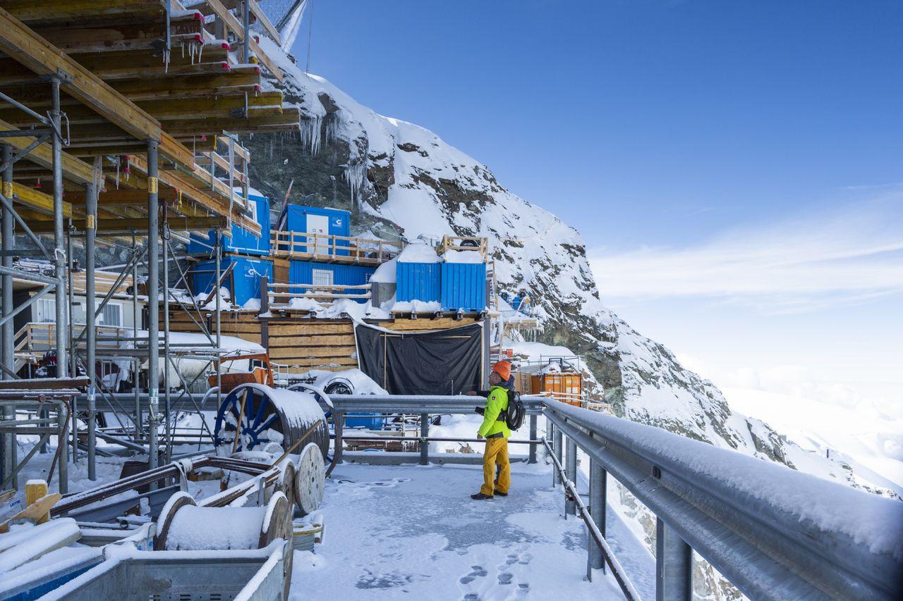 Construcción nuevo 3S de Zermatt