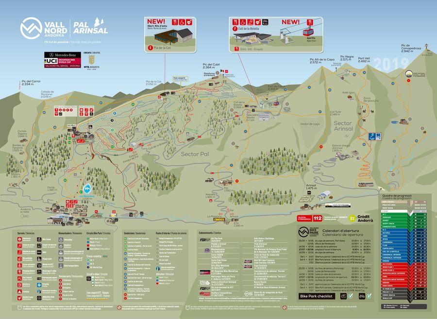 Mapa bike park Massana