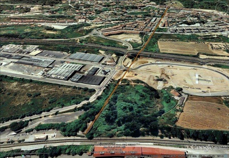 Vista Google Earth Funicular de Gelida