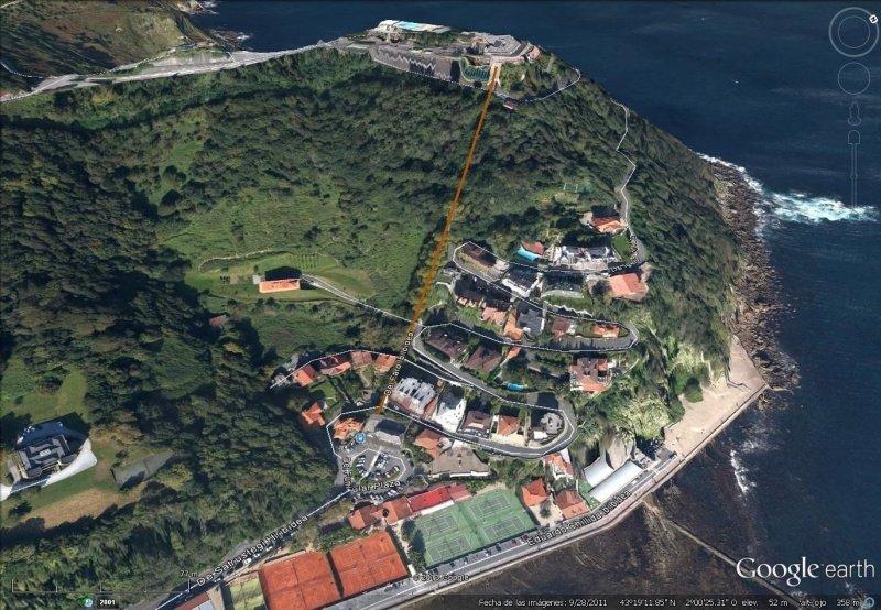 Vista Google Earth Funicular de Igueldo