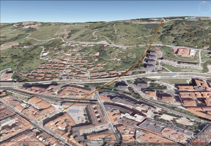 Vista Google Earth Funicular de Archanda