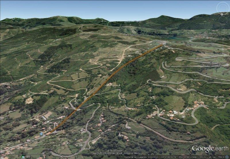 Vista Google Earth Funicular La Reineta