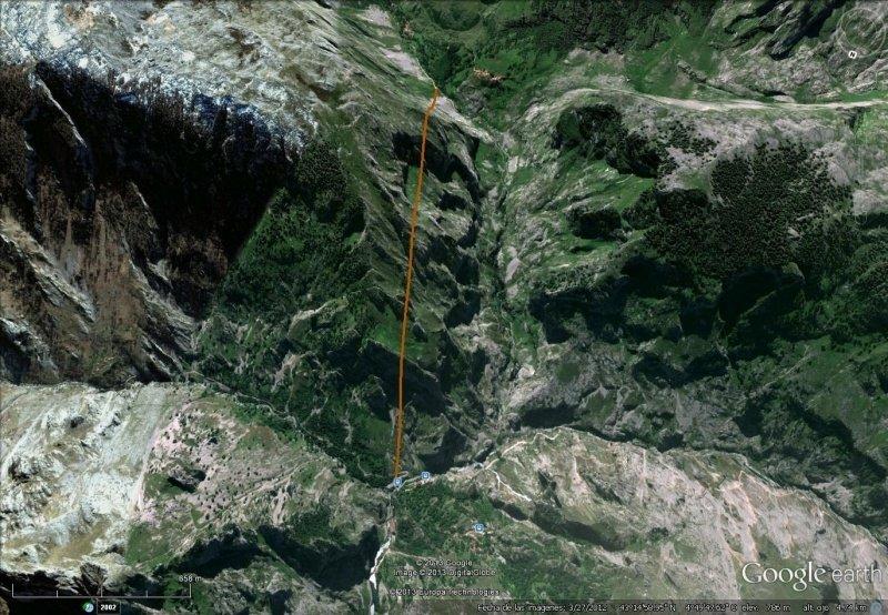 Vista Google Earth Funicular de Bulnes