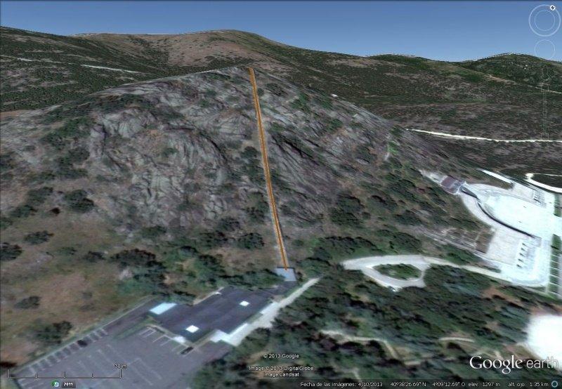 Vista Google Earth Funicular del Valle de los Caidos
