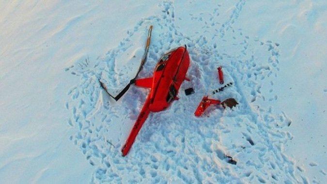 Helicóptero cae en La Parva