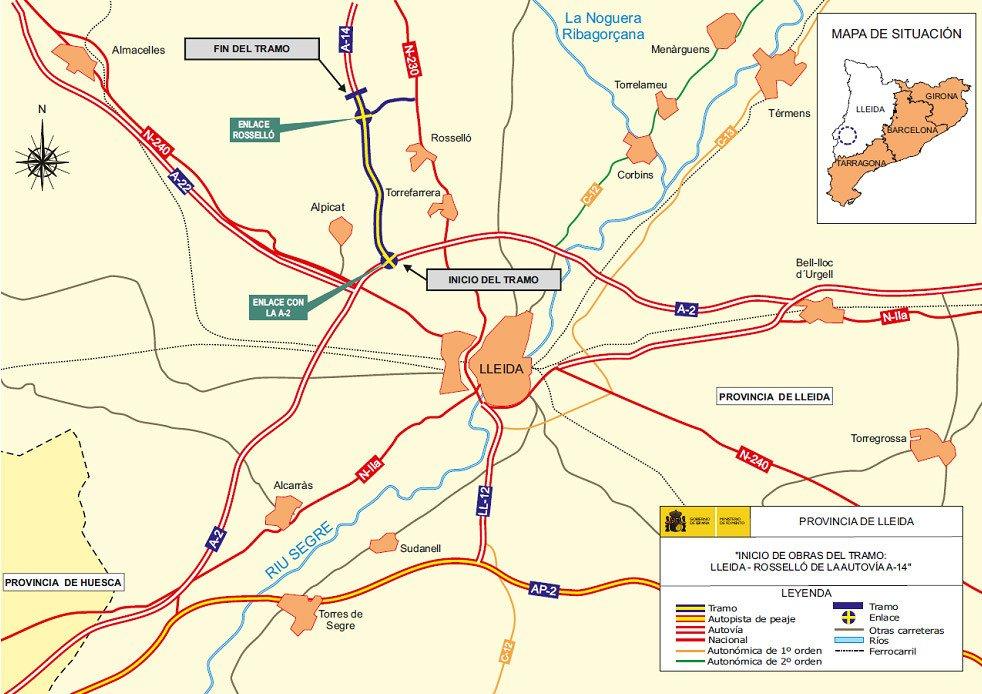 Plano A-14 Autovía de la Ribagorza