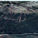 Vista Google Earth Cerro Castor 2019
