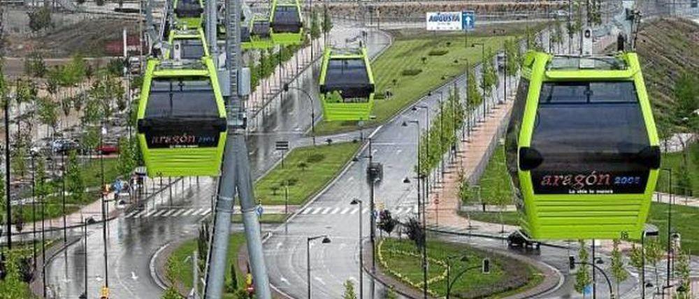 El telecabina de Aramón en Zaragoza se reparte en trocitos por el mundo