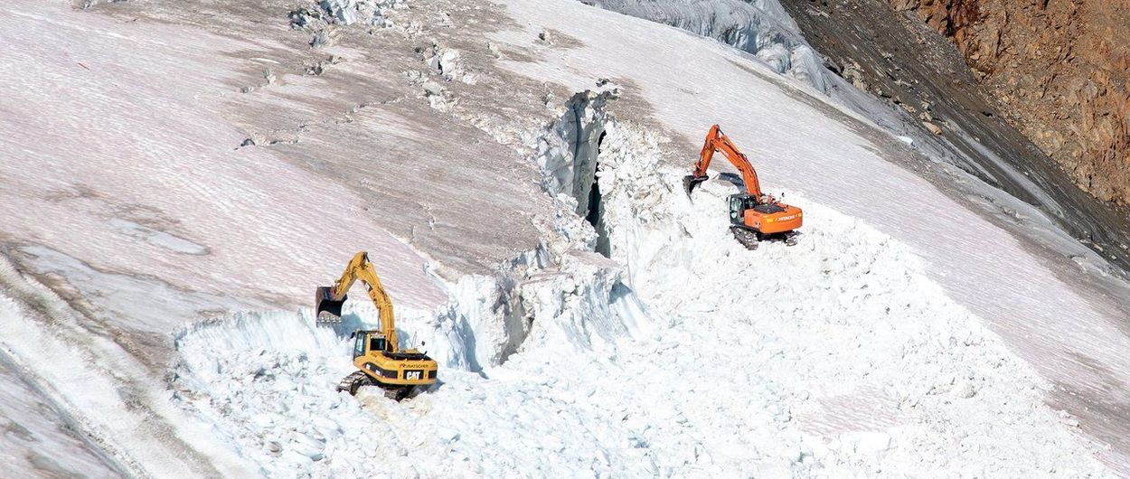 No. Pitztal no está destruyendo un glaciar para ampliar su área de esquí