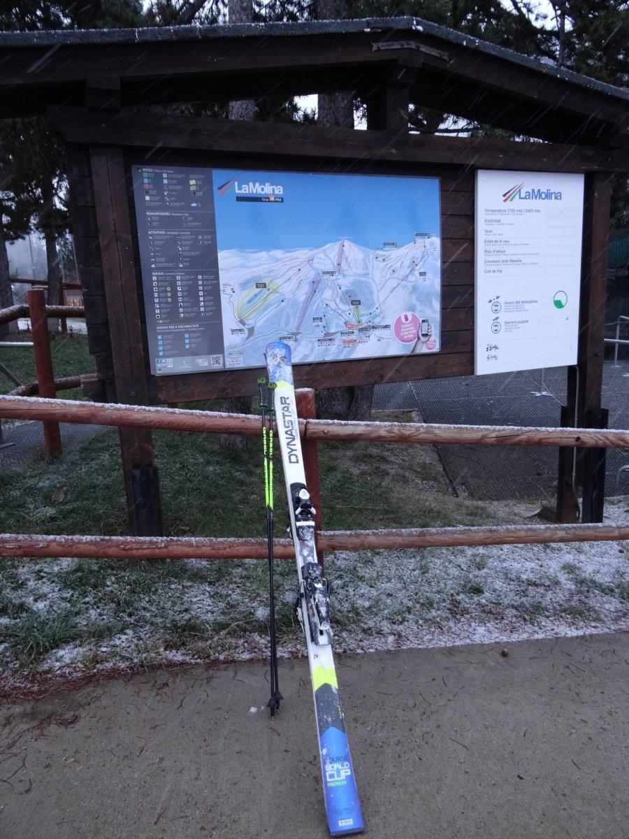 Con dos misiles bajo la nieve en La Molina