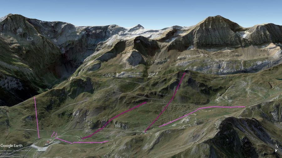Vista Google Earth Gavarnie Temporada 2020/21