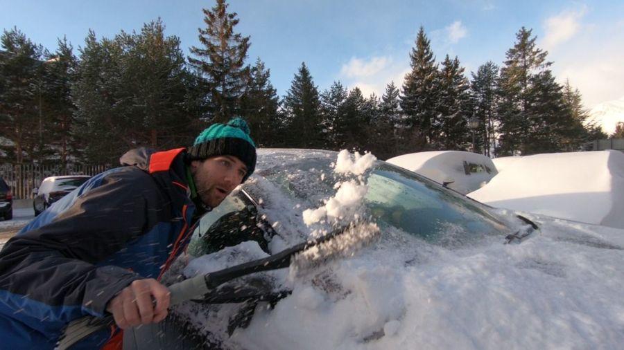 Nieve en los coches