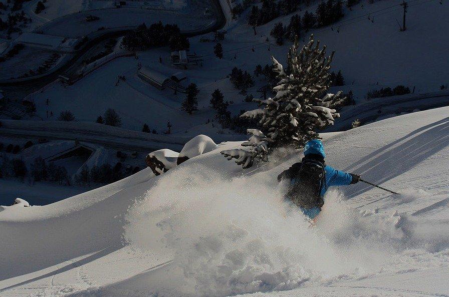Dani esquiando en Arcalis