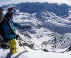 Esquí de otoño en los glaciares alpinos