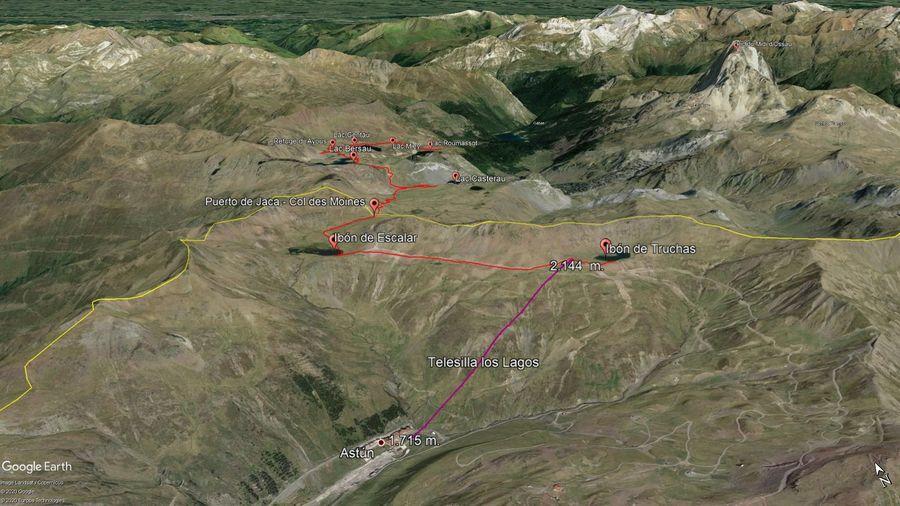 Vista Google Earth Astún Verano 2020