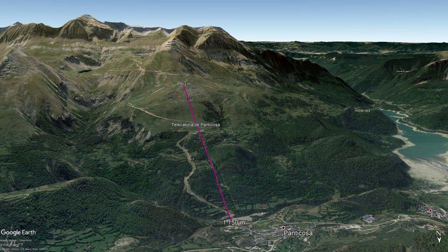 Vista Google Earth Panticosa Verano 2020