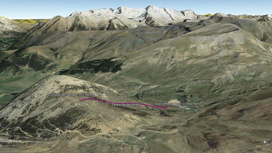 Vista Google Earth Cerler Verano 2020